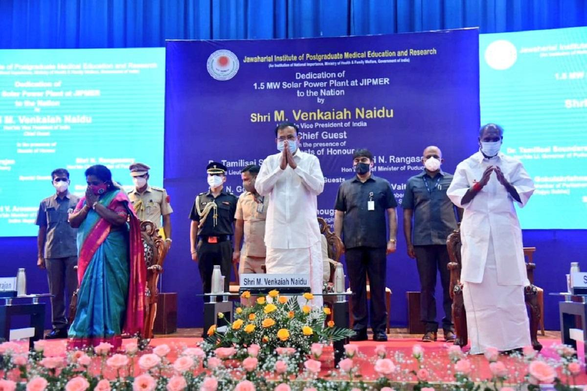 solar energy, water harvesting, Venkaiah Naidu