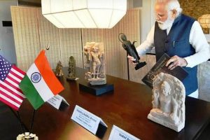 Modi returns to India with 157 artifacts and antiquities handed over to him by the US