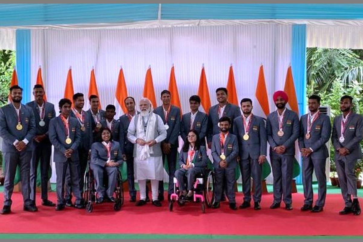 Paralympics athletes, Narendra Modi, Tokyo Paralympics contingent