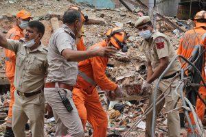 Two children die in Delhi building collapse