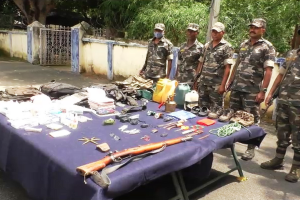 Maoist camp busted after exchange of fire in Odisha forest, arms, ammunition seized