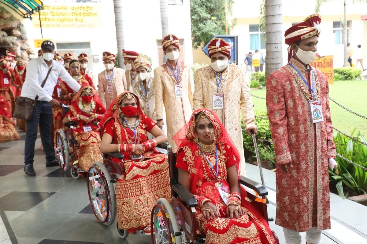mass wedding ceremony, Narayan Seva Sansthan
