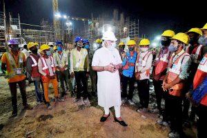 Modi visits construction site of new Parliament building