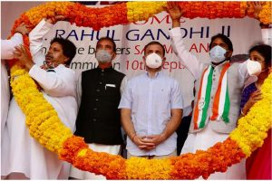 BJP, RSS trying to demolish composite culture of J&K: Rahul Gandhi