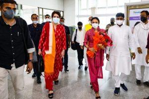 Priyanka Gandhi arrives in Lucknow on two-day visit
