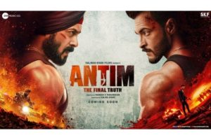 Salman in face-off with Aayush in 'Antim: The Final Truth' poster