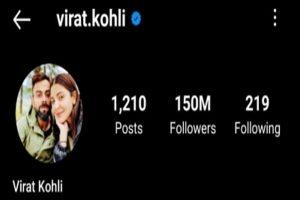 Virat Kohli becomes 1st Indian to reach 150mn followers on Instagram
