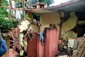 Explosion blows off roof of Odisha police station building