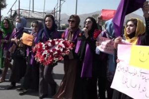 Protest in Kabul demanding women's rights turns violent