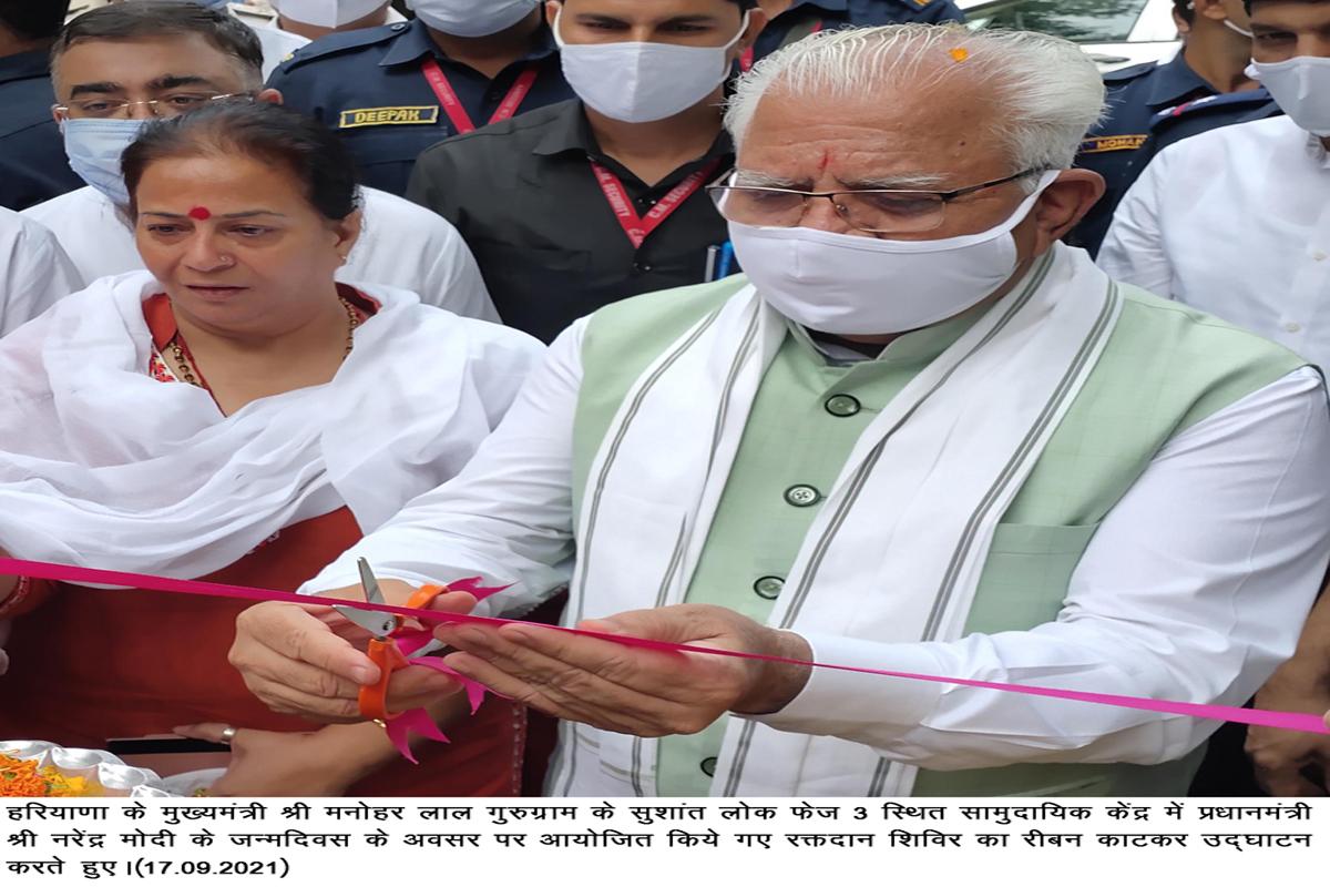 Narendra Modi, Manohar Lal Khattar, Seva and Samarpan