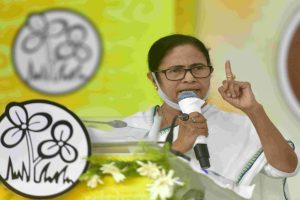 Mamata Banerjee leading by 2,377 votes in Bhabanipur