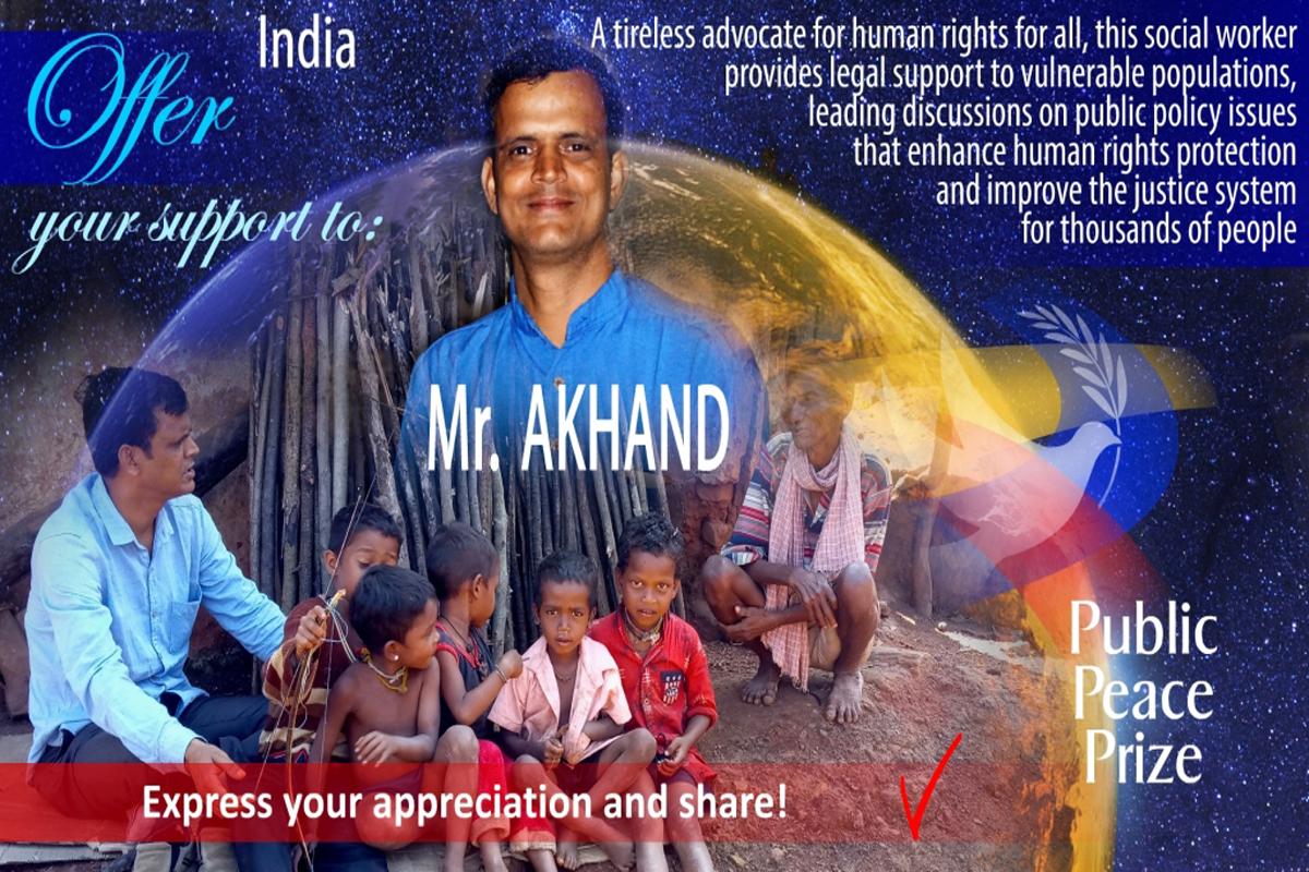 Odisha, International Public Peace Prize, Akhand