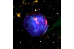 NASA telescopes spot remains of a supernova in colourful bubble