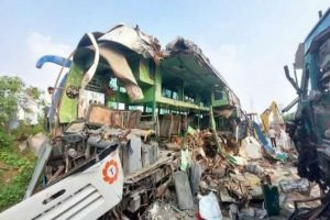 UP truck-bus collision: Death toll rises to 13