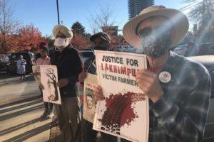 Rally against Lakhimpur Kheri killings in Canada