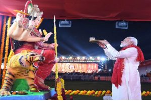 PM Modi greets people on the first day of Navratri