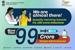India's Covid-19 vaccination past 99 crore: Mansukh Mandaviya