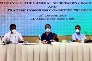 Maintain unity and discipline, Sonia tells partymen