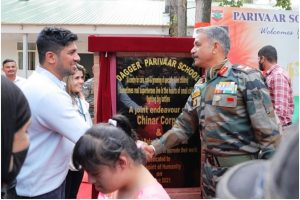 Indian Army and Indrani Balan Foundation inaugurate Dagger Parivaar School in Baramulla, Kashmir for specially-abled children