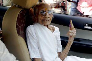 Gandhinagar civic polls: PM Modi's mother Heeraben casts her vote