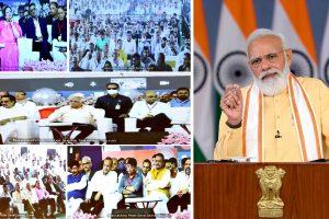 PM Modi performs Bhoomi Poojan of Hostel Phase-1 built by Saurashtra Patel Seva Samaj