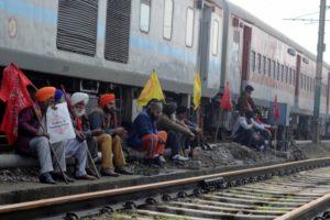Rail roko: Protesters sit on rail tracks in Punjab, Haryana; commuters hit