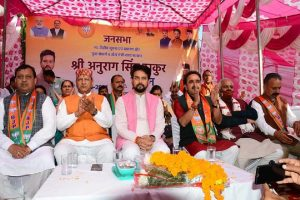 BJP always worked for welfare of armed forces: Anurag Thakur