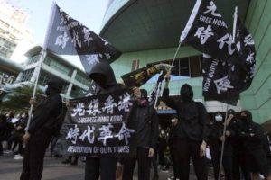 Hong Kong activists hold anti-China protest in Taiwan