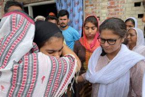 Lakhimpur violence: TMC leaders meet victims' kin