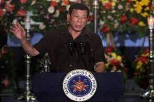 Duterte steps out
