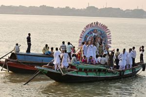 Ghoshal Bari Puja: Residents reminisce days of idol immersion on boats as they embrace the new