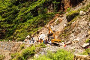Landslide closes NH-10; PWD mulls slicing hill to make way