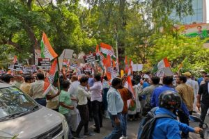 Youth Congress protest's in Delhi over Lakhimpur Kheri violence